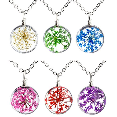 Surface Pressed Transparent Crystal Necklace product image