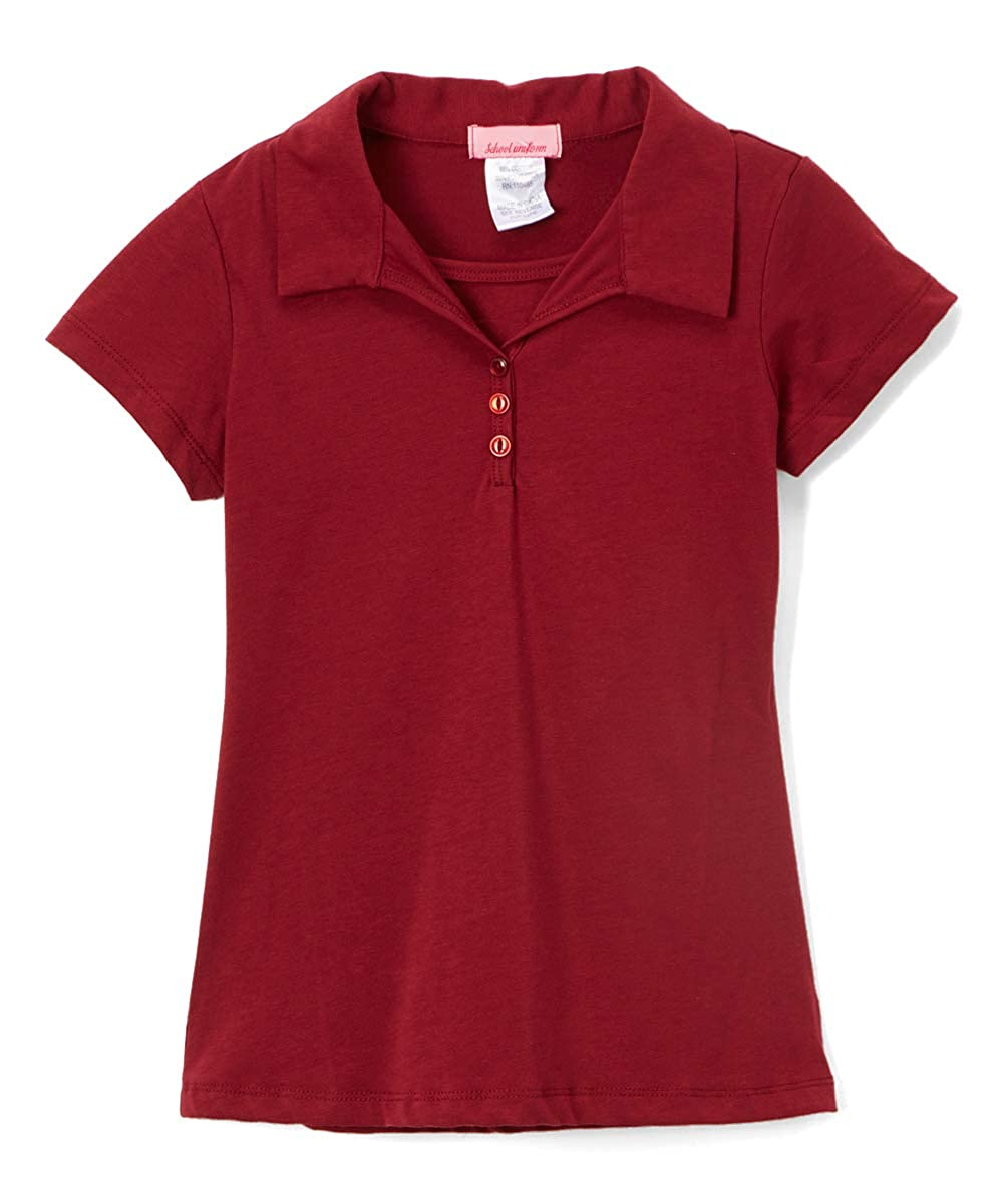 a66273b6 65% Cotton, 35% Polyester Girls Uniform Polo Shirt Interlock Fabric, Very  Soft Pull-On Closure Recommended Care Instructions: Machine Wash Cold.