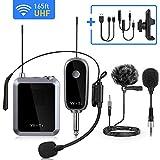UHF Wireless Microphone System, Lavalier Lapel