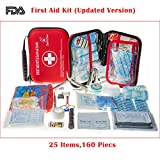 DeftGet Compact First Aid Kit - Mini Survival Tools Box - Waterproof Outdoor Medical Emergency Bag Lightweight for Emergencies at Home Car Camping Workplace Traveling Adventures Sports Hiking