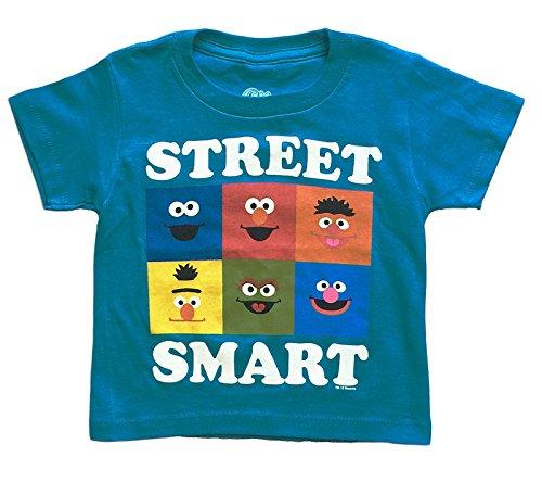 Sesame Street Little Boys Toddler Character T Shirt (2T)