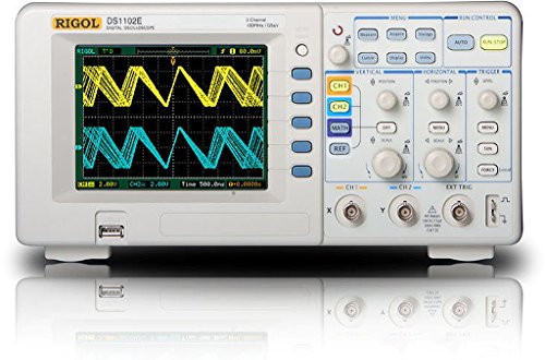 Rigol DS1102E 100MHz Digital Oscilloscope, Dual Analog Channels, 1 GSa/s Sampling, USB Storage ()