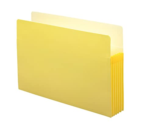 Straight 10 per Box Yellow Letter 73243 Smead Pocket 5.25-Inch Expansion