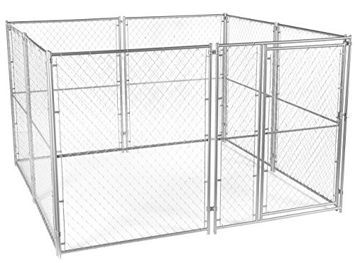 Lucky Dog Chain Link Pet Kennel (6'H x 10'L x 10'W) 164 lbs