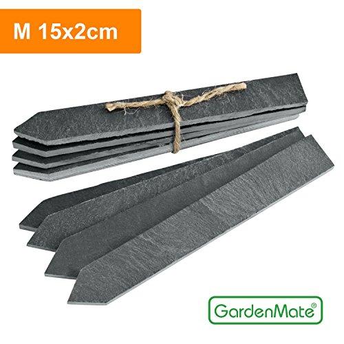 GardenMate® 8er Set Pflanzschilder M 15x2cm aus Schiefer
