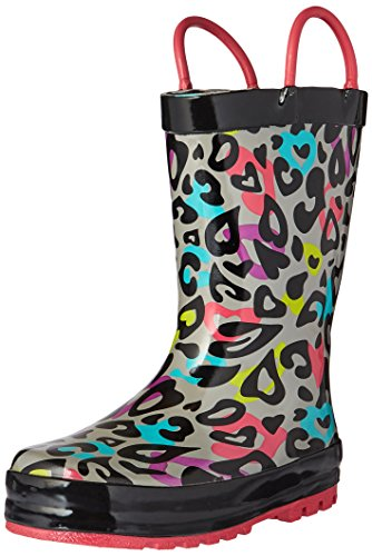 Western Chief Girls Printed Rain Boot, Groovy Leopard, 12 M US Little - Tall Leopard Boot