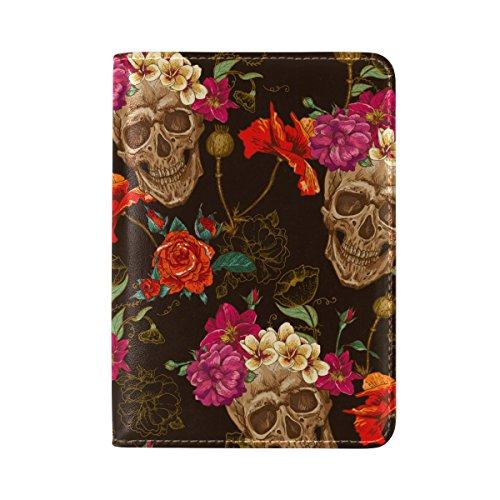 os Muertos Leather Passport Cover - Holder - for Men & Women - Passport Case ()