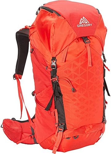 Gregory Mountain Products Paragon 38 Liter Men s Backpack, Citrus Red, Medium Large