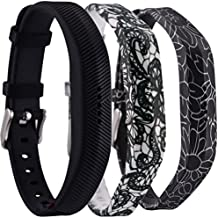 Huishang Flex 2 Accessory Bands for Fitbit Flex 2/Fit bit flex2, With Chrome Claspor Soft Silicone Fitness Bracelet Strap, Adjustable Replacement Wrist Band for Fitbit Flex 2 Fitness Smart Watch