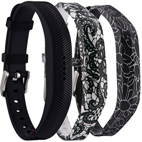 Huishang Flex 2 Accessory Bands for Fitbit Flex 2/Fitbit flex2, With Chrome Claspor Soft Silicone Fitness Bracelet Strap,Wrist Band Adjustable Repalcement (Chrome Band)