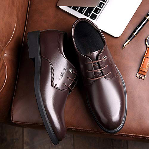 Uomo in Brown Uomo da Pelle Uomo Scarpe Pelle Business da in da Casual 6Pwqw07p