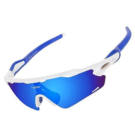 BATFOX Gafas de Sol, Gafas de Sol Deportivas Polarizadas,UV 400 Protección Gafas Deportivas, para Ciclismo,Deportes,Unisexo (Rose y Gris)