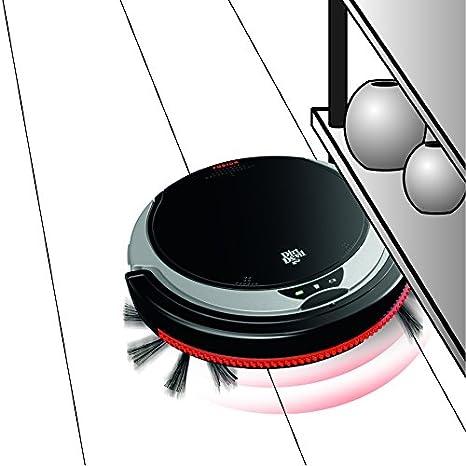 Dirt Devil Fusion aspirapolvere robot Nero Argento 0,24 L