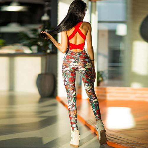 Dreamyth-Summer Women Backless Sleeveless Bandage Sport Yoga Fitness Jumpsuit 2020 4