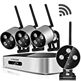FREDI Mini 4CH 720P HD wifi security camera system Wireless IP/ Network Security/Surveillance Camera System with mini 4 Channel 1080P NVR(Without Hard Drive)