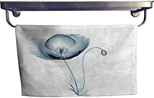 alisoso Flower Customized Sports Towel Set Image of Poppy Flower in X-ray Floral Radiogram Unusual Look into Nature Art...