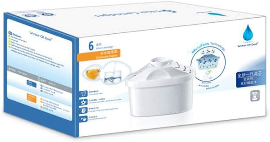 Filtro purificador de agua/cartucho de filtro de agua - paquete de 6: Amazon.es: Hogar