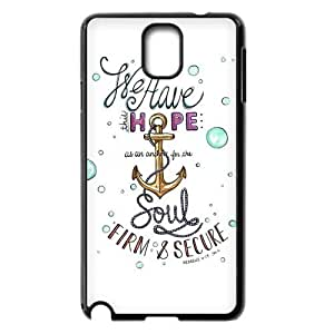 Hot phonecase, Bible Verse - We Have This Hope As an Anchor for the Soul Hebrew 6:19 Theme for black plastic Samsung Galaxy Note 3 case BY RANDLE FRICK by heywan