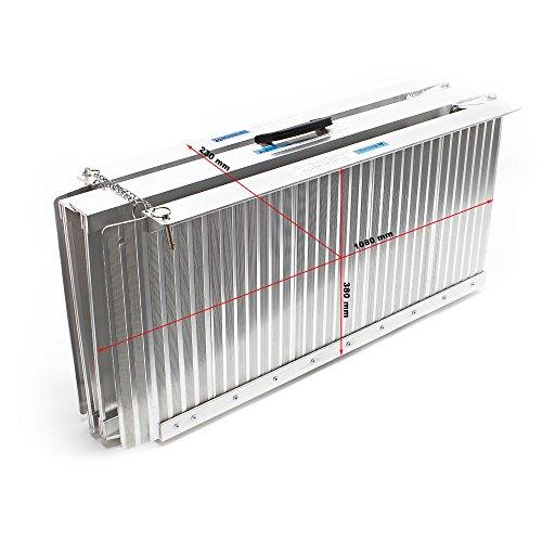 Rampa Sillas Ruedas 2x 213cm 270kg Plegable Aluminio Coche Acceso Vehiculo Transportable Portatil