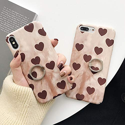 Twinlight 360 Phone Ring for iPhone Xs Max XR XS X Case 3D Love Vintage Grip Finger Ring Hard PC Back Cover for iPhone 8 7 Case (for iPhone Xs Max) (Louis Cases Vuitton 4s)