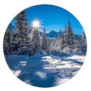 alfombrilla de ratón la salida del sol de invierno en las montañas - ronda - 20cm