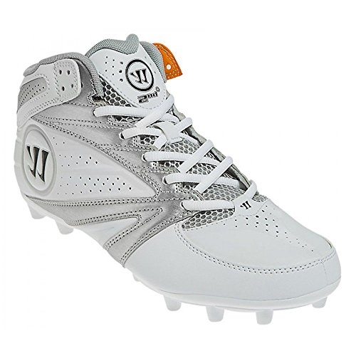 Warrior Second Degree 3.0 LaCrosse Cleat, White/Silver, 13.0 D US