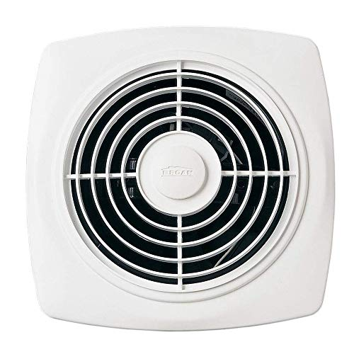 Broan 509 Through-Wall Fan, 180 CFM 7.5 Sones, White Square Plastic Grille