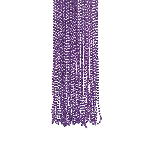 Fun Express Purple Metallic Bead Necklaces (4 -