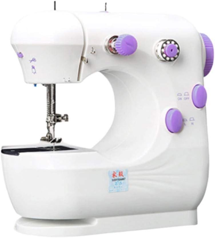 Máquinas de Coser Máquinas de coser portátiles Mini máquina de coser eléctrica de dos velocidades y dos cables for ...