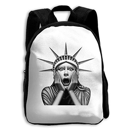 Statue Liberty Clipart (School Season Kids Shoulder Bag Toddler Bookbag Rucksack Child Surprised Statue Of Liberty Backpack Handbags Unisex)