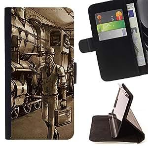 Momo Phone Case / Flip Funda de Cuero Case Cover - Gentleman Spy - Tf Game Gaming - LG OPTIMUS L90