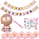 15pcs Boy & Girl Birthday Party Decoration Kit Baby Shower Banner Photo Booth Props Newborn Latex Balloons It's A Girl/Boy Party Supplies