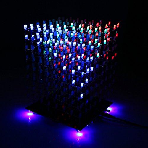 Sainsmart 3d Lightsquared Diy Kit 8x8x8 5mm White Led Cube