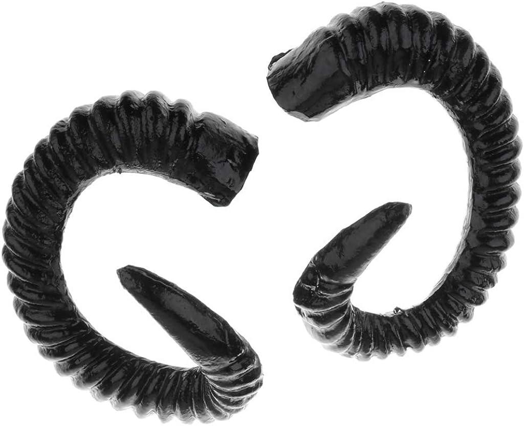 Artificial Sheep Ram Horns Costume Ram Horns Headband for Halloween Cosplay Costume Black