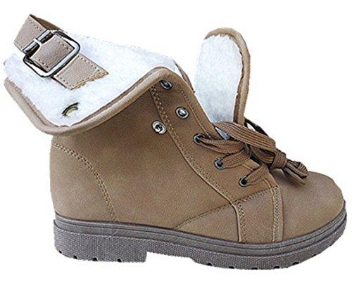 Dsd Diseño Mujer Para Caliente Botines Mujer Piel De Botas Con Zapatillas 1 Deporte Fourrée H78SSqn