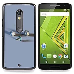 - M1necraft - - Cubierta del caso de impacto con el patr??n Art Designs FOR Motorola Verizon DROID MAXX 2 / Moto X Play Queen Pattern