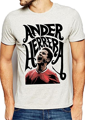 newest collection d972e 53bc7 642 Stitches Ander Herrera for Manchester United Men's Cotton Round Neck  T-Shirt