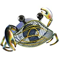 DecoBREEZE Table Fan Single-Speed Electric Circulating Fan, Blue Crab Figurine Fan