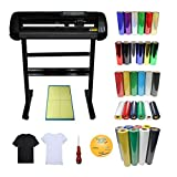 "Intbuying 24"" Vinyl Cutter Plotter Heat Press Transfer Vinyl Cutting Mat Craftedge Software"