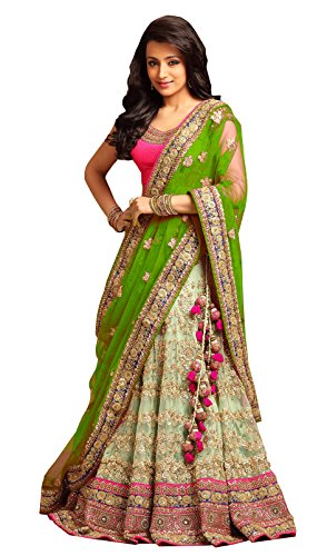 Indian-Pakistani-Womens-New-Collection-Net-Designer-Lehenga-Choli-Green