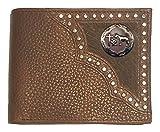 Custom Brown Praying Cowboy Church Bi-fold Wallet Hair on Hide Brown