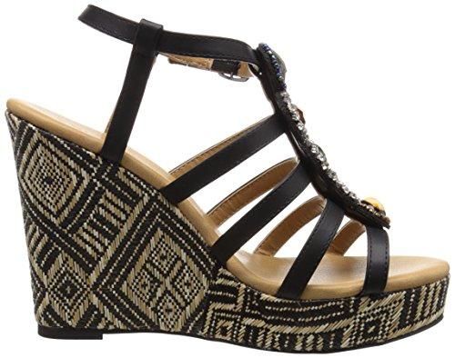 Dolce By Mojo Moxy Femmes Corona Wedge Sandale Noir