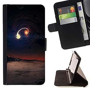 For LG G2 D800 Case , Escena de agujero negro- la tarjeta de Crédito Slots PU Funda de cuero Monedero caso cubierta de piel