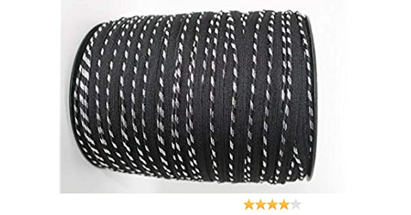 Trimming Shop 4 Metros Negro y Plateado Brecha Bies Tubería Cable con Cubierto Inserción Cinta Brida Ribete 7mm Diámetro - Algodón Cinta Tira para Costura y Ropa Reparación PC16: Amazon.es: Hogar