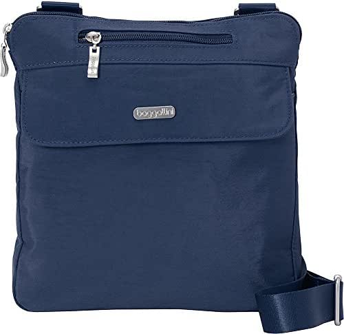 baggallini RFID Synergy Flap Crossbody - Small Nylon Bag for Travel & Everyday
