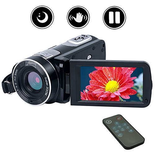 camcorder night vision vlogging zoom