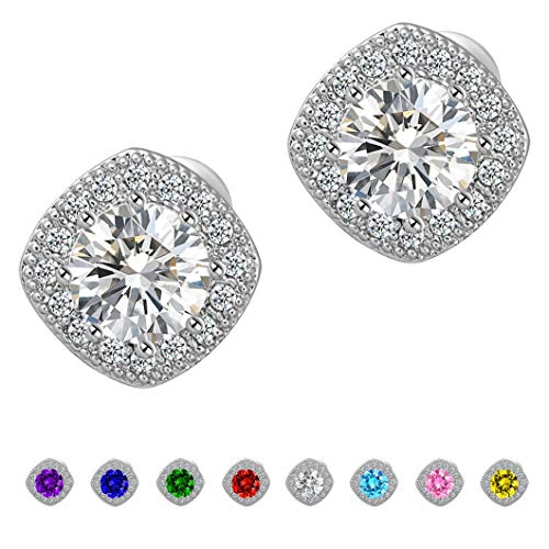 Stud Earrings Fashion CZ Crystal Earrings Square Earrings for Women for $<!--$8.99-->