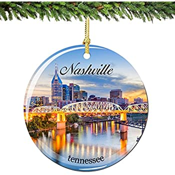 Amazon Com Nashville Tennessee Christmas Ornament Souvenir Gift