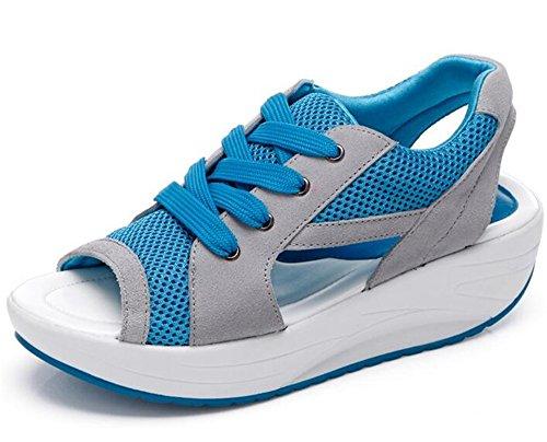WUIWUIYU レディース サンダル 厚底 スポーツサンダル 美脚 軽量 コンフォート 疲れにくい 柔らかい 通勤 通学靴