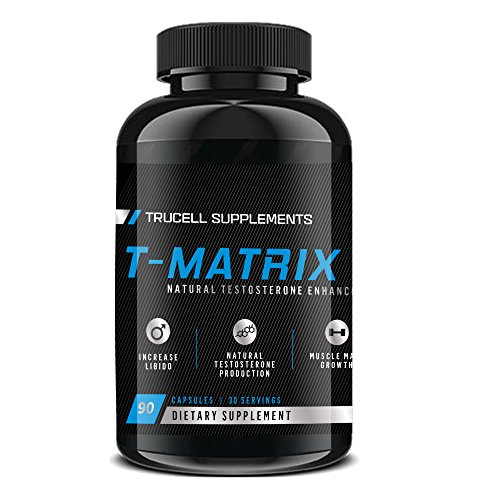 Trucell Supplements Men's Testosterone Supplement T-Matrix (90 Count) - Natural Strength, Increased Stamina and Indurance Booster - Burn Fat and Increase Energy